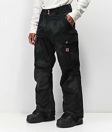 DC Code Black 3M Camo 15K Snowboard Pants