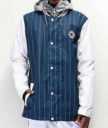 DC DCLA Dress Blue & White Pinstripe Snowboard Jacket