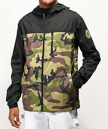 DC Dagup Camo & Black Windbreaker Jacket