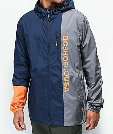 DC Dagup Triple Block Blue & Grey Windbreaker Jacket