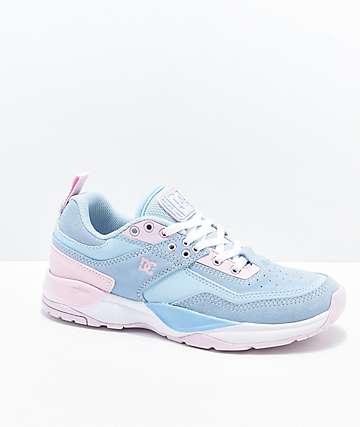 DC E. Tribeka Gum Blue & Pink Shoes