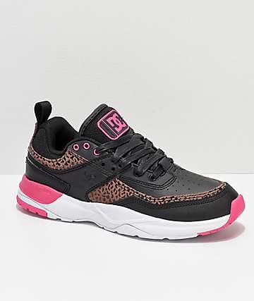 DC E. Tribeka SE zapatos en negro y leopardo