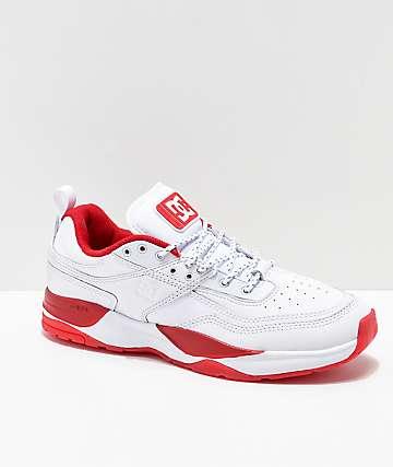 DC E. Tribeka Shanahan White & Red Shoes