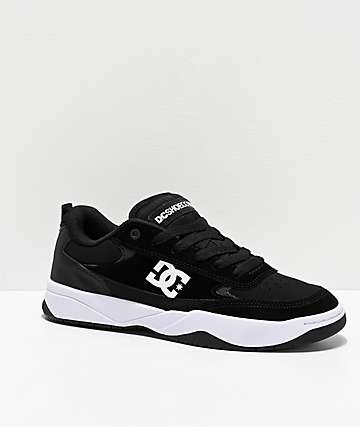 DC Penza Black & White Skate Shoes