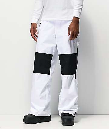 DC Podium White 10K Snowboard Pants