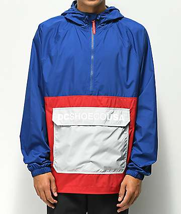 DC Sedgefield Blue & Red Anorak Jacket