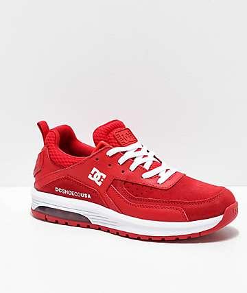 DC Vandium SE Red & White Shoes