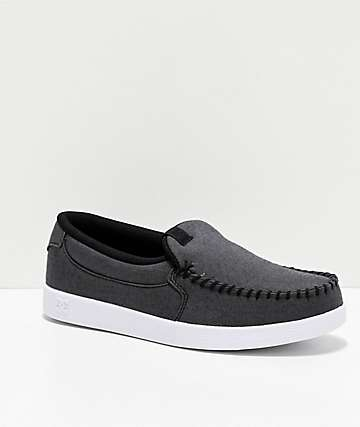 DC Villain TX SE Heather Charcoal Slip-On Shoes