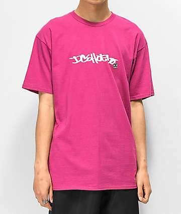 DC Waxed camiseta morada