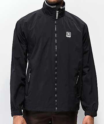 DC Welwyn Black Reflective Track Jacket
