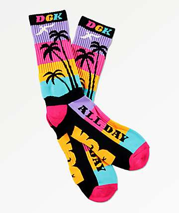 DGK All Day Multi-Colored Crew Socks