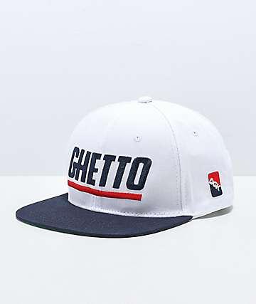 DGK Blaze Ghetto White Snapback Hat
