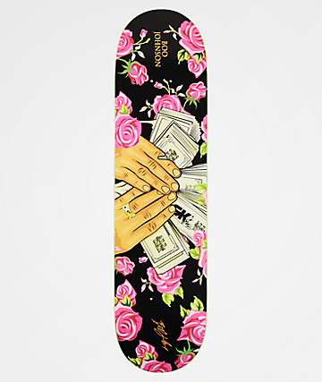 "DGK Boo Money Moves Floral 8.0"" Skateboard Deck"