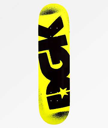 "DGK Florescent Yellow Logo 8.25"" Skateboard Deck"