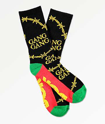 DGK Gang Gang Black Crew Socks