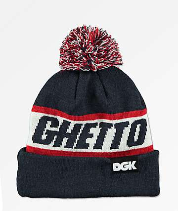 DGK Ghetto Navy Pom Beanie