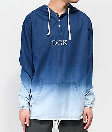 DGK Harbor camiseta de manga larga de mezclilla azul