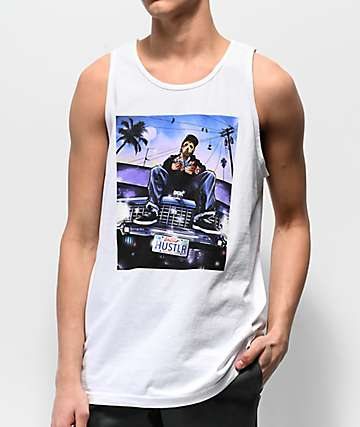 DGK Hustlin White Tank Top
