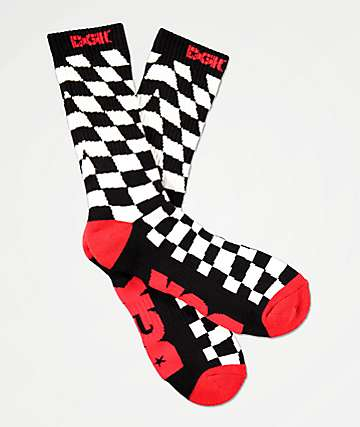 DGK Illusion Checkered Crew Socks
