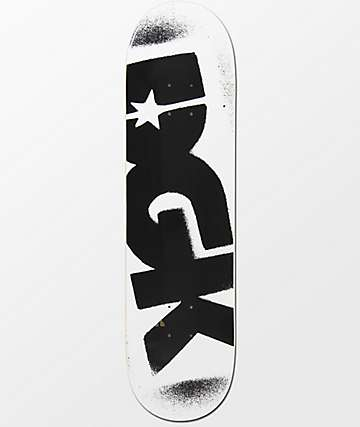 "DGK Logo White & Black 8.25"" Skateboard Deck"