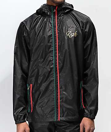 DGK Lux Black Windbreaker Jacket