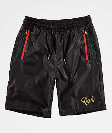 DGK Lux Swish Black Elastic Waist Shorts