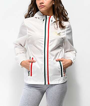 DGK Lux White Windbreaker Jacket