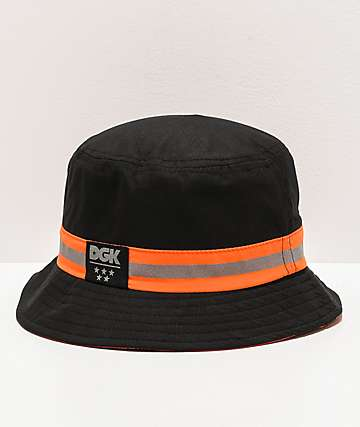 DGK Nocturnal sombrero de cubo negro y naranja