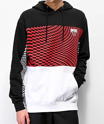 DGK Optical Checkered Red, White & Black Hoodie