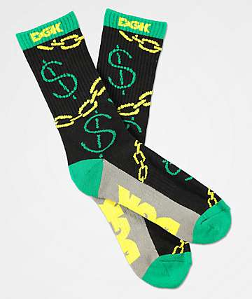 DGK Paid Black Crew Socks