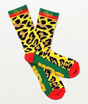 DGK Primo Red, Green & Gold Crew Socks
