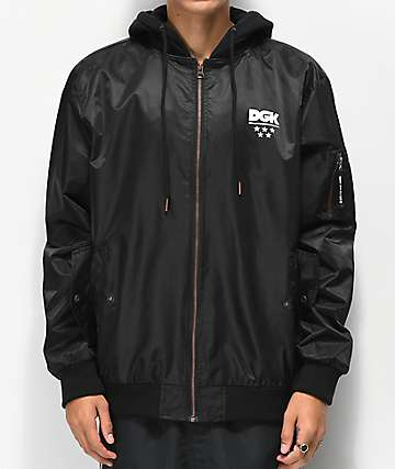 DGK Soldier Black Jacket