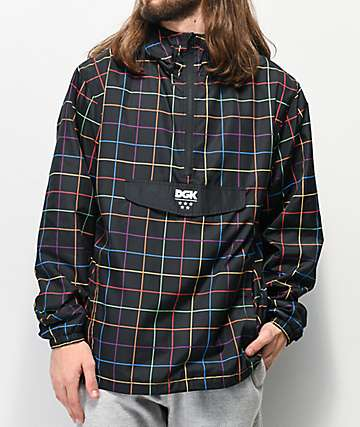DGK Spectrum Black Anorak Windbreaker Jacket