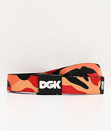 DGK Strike Scout Red, Orange & Yellow Camo Web Belt