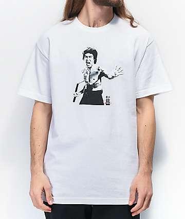 DGK x Bruce Lee Fierce White T-Shirt