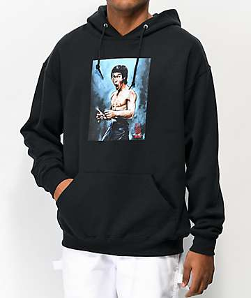 DGK x Bruce Lee Focused Black Hoodie