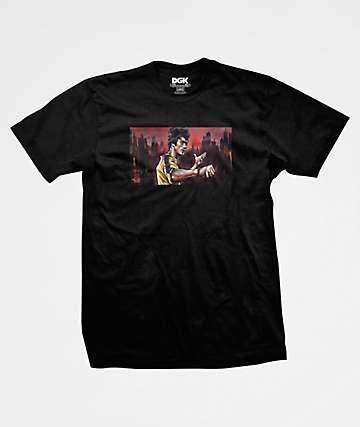 DGK x Bruce Lee Warrior Black T-Shirt