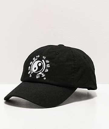 DGK x Bruce Lee Yin Tang Black & White Strapback Hat