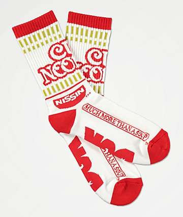 DGK x Cup Noodles Red & White Crew Socks