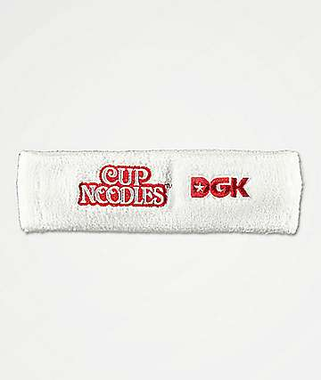 DGK x Cup Noodles Red & White Headband