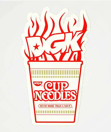 DGK x Cup Noodles Red & White Sticker
