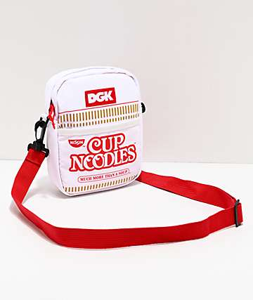 DGK x Cup Noodles White & Red Shoulder Bag
