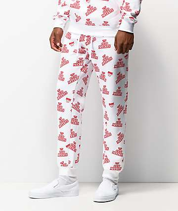 DGK x Cup Noodles White & Red Sweatpants