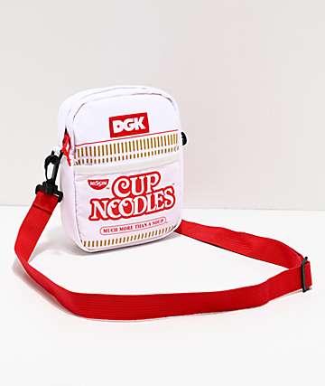 DGK x Cup Noodles bolso de hombro blanco y rojo