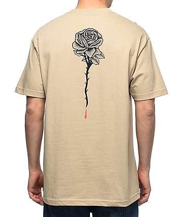 DROPOUT CLUB INTL. Rose Bone Thrower camiseta marrón