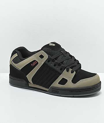 DVS Brindle & Black Nubuck Skate Shoes