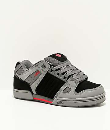 DVS Celsius Grey, Black & Red Skate Shoes