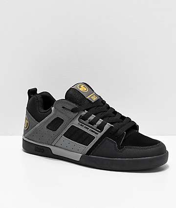 DVS Comanche 2.0 Black & Grey Skate Shoes