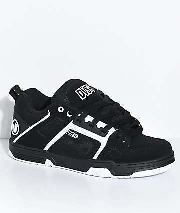 DVS Comanche Black & White Nubuck Skate Shoes