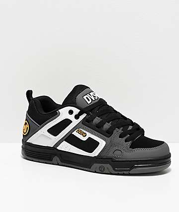 DVS Comanche White, Charcoal & Black Skate Shoes